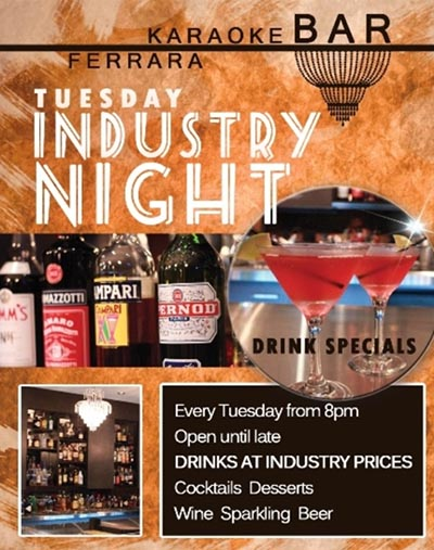 Ferrara Bar Industry Night